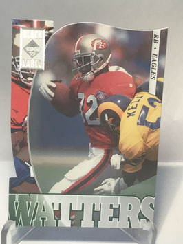 Ricky Watters (Eagles) 1995 Collector's Edge Black Label Silver Die Cuts #158