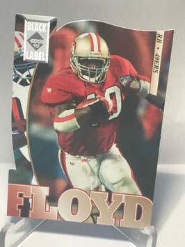 William Floyd (49ers) 1995 Collector's Edge Black Label Silver Die Cuts #176