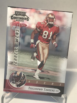 Terrell Owens/ Torry Holt (49ers/ Rams) 2000 Contenders Touchdown Tandems #TD19
