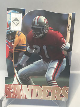 Deion Sanders (49ers) 1995 Collector's Edge Black Label Silver Die Cuts #178
