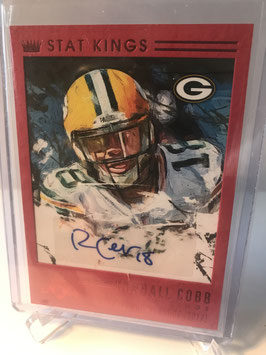 Randall Cobb (Packers) 2015 Panini Gridiron Kings Stat Kings Signatures Red Frame #SKS-RC
