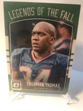 Thurman Thomas (Bills) 2016 Donruss Optic Legends of the Fall #16