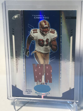 Terrell Owens (49ers) 2004 Leaf Certified Materials Mirror Blue #50