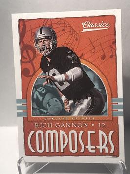 Rich Gannon (Raiders) 2018 Panini Classics Composers #12