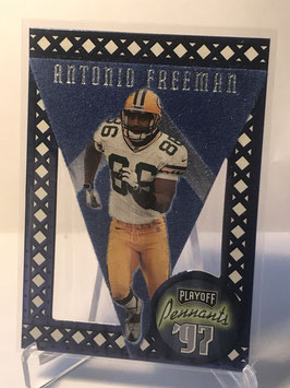 Antonio Freeman (Packers) 1997 Playoff Contenders Pennants Blue Blue Felt #22