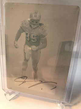 Vernon Davis (49ers) 2007 Leaf Certified Printing Plate Autograph Cyan #68