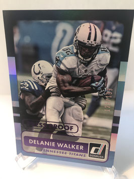 Delanie Walker (Titans) 2015 Donruss Press  Proof Purple #127