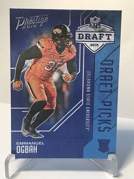 Emmanuel Ogbah (Oklahoma State/ Browns) 2016 Prestige Draft Picks Blue #21