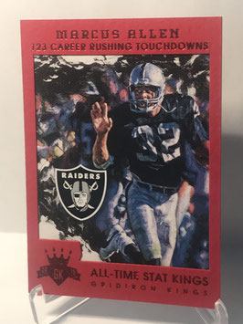 Marcus Allen (Raides) 2015 Panini Gridiron Kings All Time Stat Kings Red  #182