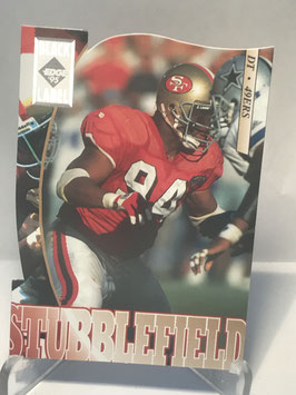 Dana Stubblefield (49ers) 1995 Collector's Edge Black Label Silver Die Cuts #179