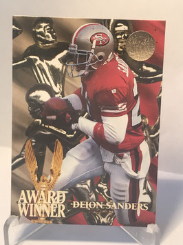 Deion Sanders (49ers) 1995 Fleer Ultra Award Winner Gold Medallion #5