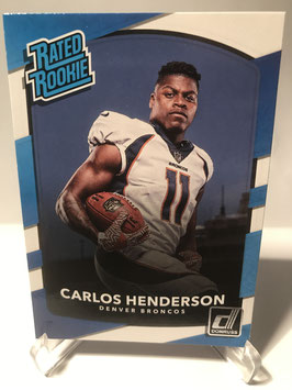 Carlos Henderson (Broncos) 2017 Donruss Rated Rookie #336