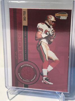 JJ Stokes (49ers) 2001 Pacific Invincible Red #220