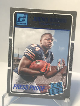 Jordan Howard (Bears) 2016 Donruss Rated Rookies Press Proof Blue #377