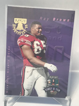 Ray Brown (49ers) 1997 Playoff First & Ten 98 Sportsfest #248