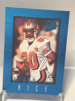 Jerry Rice (49ers) 1996 Ultra Sensations Blue #91