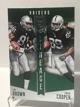 Tim Brown/ Amari Cooper (Raiders) 2016 Elite Lineage Green #LN-BC