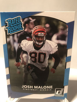 Josh Malone (Bengals) 2017 Donruss Rated Rookie #321