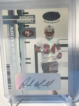 Rasheed Marshall (49ers) 2005 Leaf Certified Materials Mirror White Signatures #184