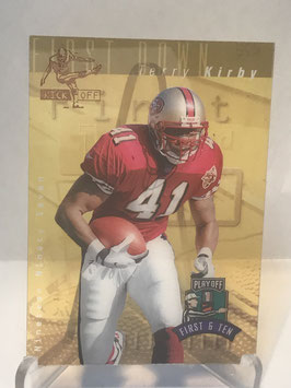 Terry Kirby (49ers) 1997 Playoff First & Ten Kickoff #TEKI
