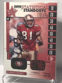 Terrell Owens (49ers) 2001 Rookies & Stars Statistical Standouts Game Ball #SS18