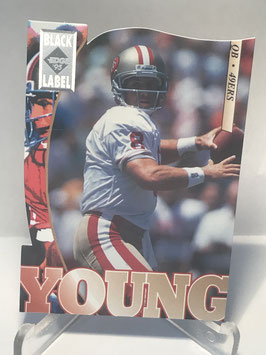 Steve Young (49ers) 1995 Collector's Edge Black Label Silver Die Cuts #181
