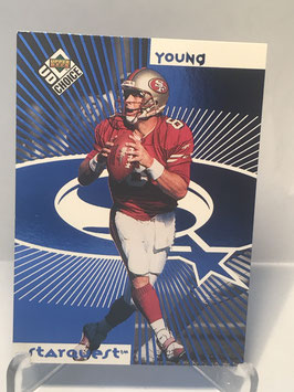Steve Young (49ers) 1998 Upper Deck UD Choice Starquest/Rookiequest Blue #SR14