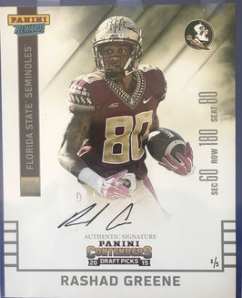 Rashad Greene (Florida State/ Jaguars) Panini Rewards Autgraphed Photo, 8X10