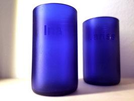 """Blue-Satain"" Trinkglas"
