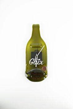 Glüx Wanduhr aus einer Weinflasche