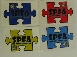 Puzzle piece bumper stickers