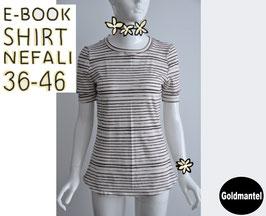 E-Book / Schnittmuster Shirt NEFALI  36-46