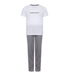Pyjama female grau