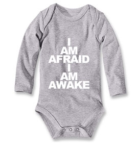 Babybody I AM AFRAID, I AM AWAKE grau
