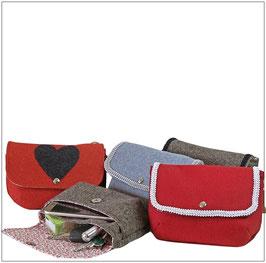 Lodentaschen ELENA, Trachtentaschen, Gürteltaschen - verschiedene Farben