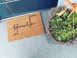 Fußmatte mit individuellem Text