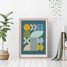 Art Print SUNSET GEO