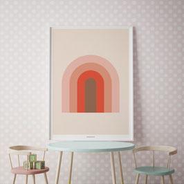 Art Print BEAUTIFUL RAINBOW