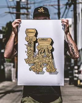 'LA' print