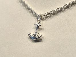 7130215  Anker mit Seil in Silber 925