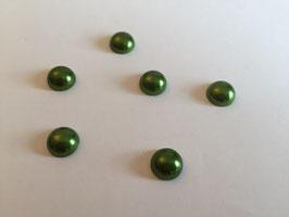 Halbperlen oliv Durchmesser 10mm