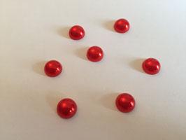 Halbperlen siam (=rot) Durchmesser 10mm