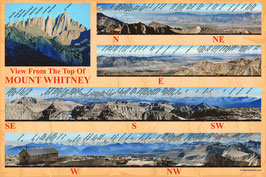Mount Whitney - Labeled Panorama Map