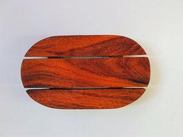 ovale Seifenschale aus indischem Akazienholz