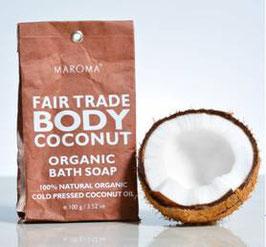 Kokosnußseife 100g/ weiße Naturseife auf der Basis von Bio-Kokosöl mit ätherischem Minzeöl