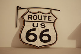 Route 66 avec support Mural
