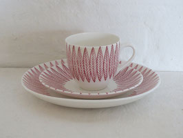 GUSTAVSBERG, SALIX, Coffeecup & Saucer & Plate