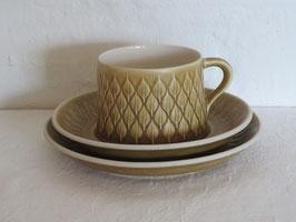 BING & GRØNDAHL, RELIEF, Tea cup & Saucer & Plate