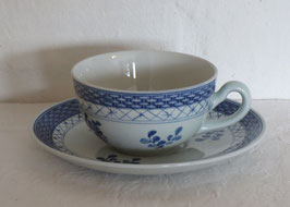 ALUMINIA, TRANQUEBAR BLUE FAJANCE, Cup & Saucer