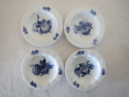 ROYAL COPENHAGEN, BLUE FLOWER, 4 plates